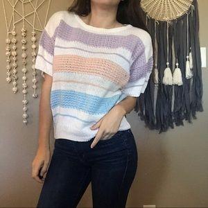 Vintage pastel knit top